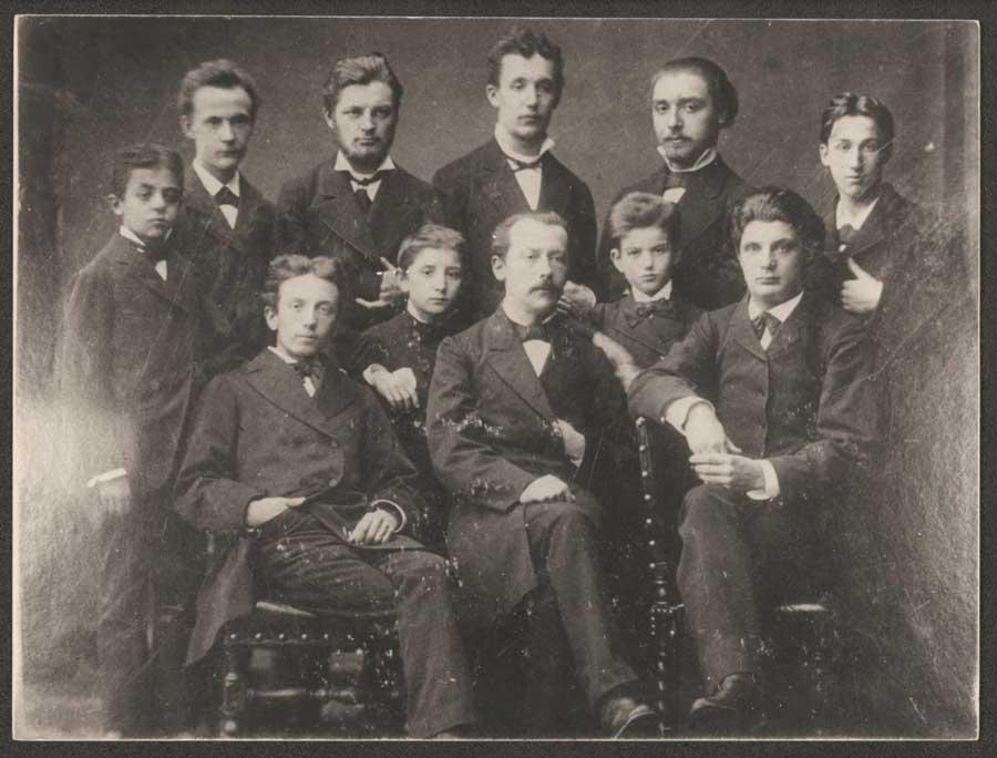 La classe de Rodolphe Massart à Liège en 1874