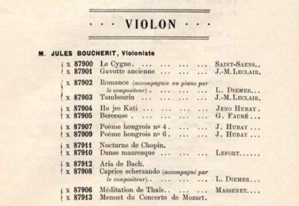 Jules Boucherit enregistrements Zonophone